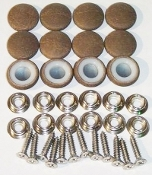 12 Pieces Stock Durasnap Buttons - Distressed Brown
