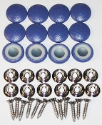 12 Pieces Stock Durasnap Buttons - Pacific Blue