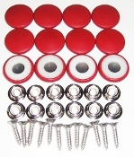 12 Pieces Stock Durasnap Buttons - Strawberry