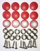 12 Pieces Stock Durasnap Buttons - Bright Red